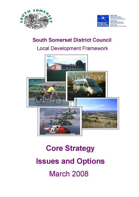 Cover for Core Strategy Issues and Options document